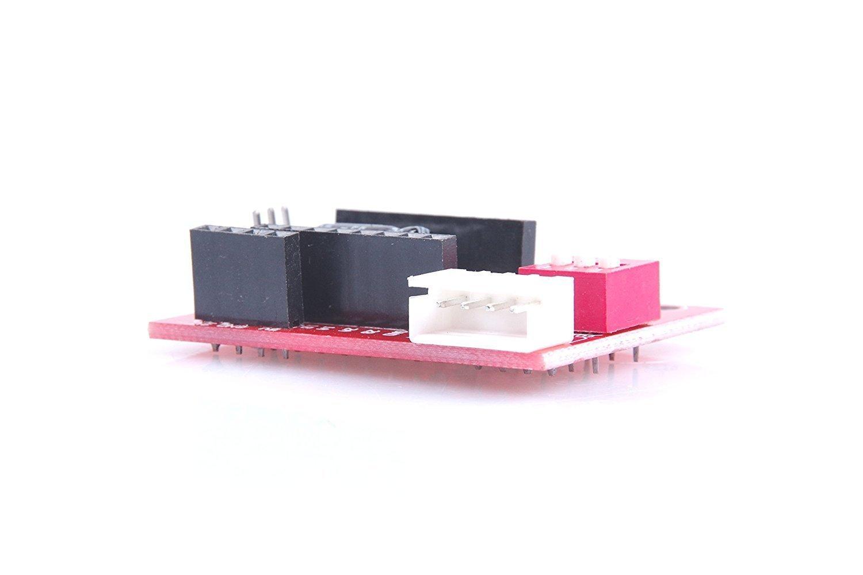DollaTek 5Pcs 3D Printer Stepper Motor Driver Control Extension Shield Board For A4988 DRV8825