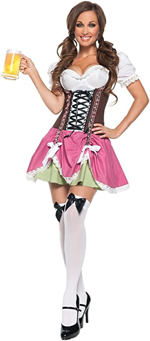 YOUJIA Disfraz de Oktoberfest Mujer Vestido de Maid Beer Costume ...