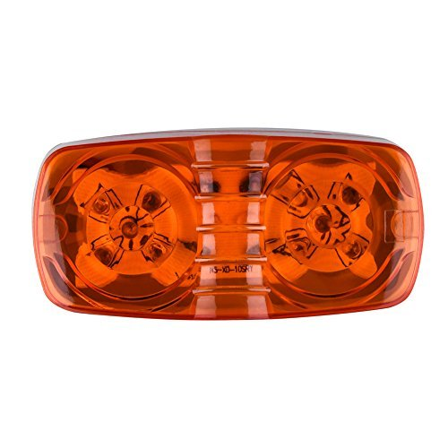 ACUMSTE-7ps-Red-6ps-Amber-12V-Double-Bullseye-Side-Marker-Lights-10-LED-Trailer-Marker-Lights-Bulls-Tiger-Eye-Amber-Trailer-Clearance-Light-for-RV-Trailers-Campers4x2-7-red-6-amber