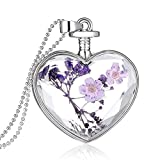 Best Usstore Friends Bracelets Guys And Girls - Usstore Women Lady Creative Lavender Romantic Hearts Necklaces Review