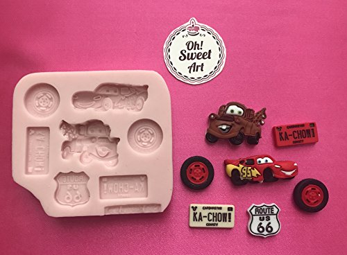 CARS Disney car Silicone Mold By Oh! Sweet Art FDA Approved for Food (Disney Cakes And Sweets)