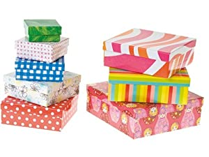 set of 8 storage cardboard gift boxes with lids assorted large small medium multi coloured. Black Bedroom Furniture Sets. Home Design Ideas
