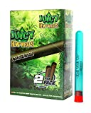 Juicy Hemp Wraps Natural Flavor (25 Packs, 2 Wraps Per Pack) Includes Display Box and Roll With Us Doobtube (Juicy Jay's)