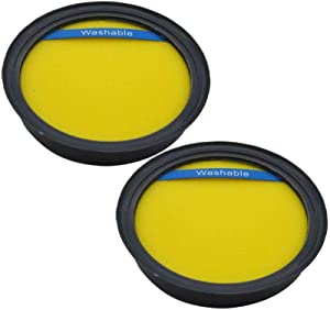 EZ SPARES Relacemen for Eureka DCF25 DCF-25 Filter,Eureka Part 67600.Fits SuctionSeal (AS1100 Series) Endeavor NLS (5400 Series), Nimble EL8600 Series(2PCS)