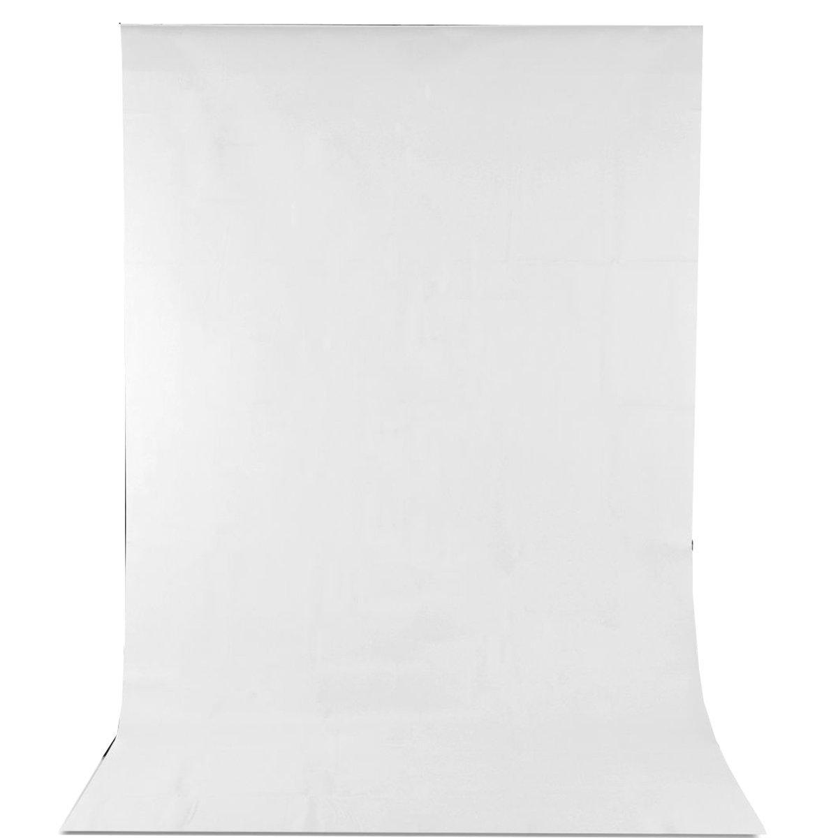 kit de iluminaci/ón para v/ídeos; para bodas y fiestas 1,6 x 3 m Tel/ón de fondo blanco para estudios de fotograf/ía verde o negro para t/écnico croma /¡