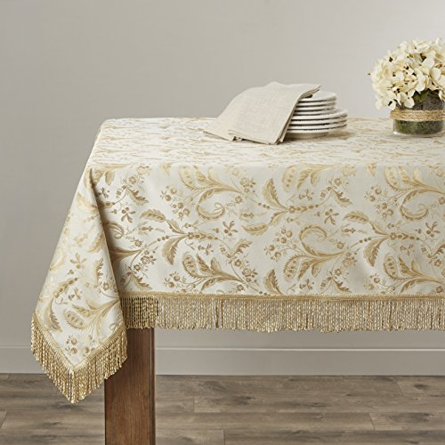 - Violet Linen Luxury Damask Design Oblong/Rectangle Tablecloth, 60