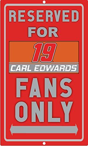 Nascar Parking Sign (NASCAR Reserved Parking for #19 Carl Edwards Fans Sign-NASCAR Parking Sign)