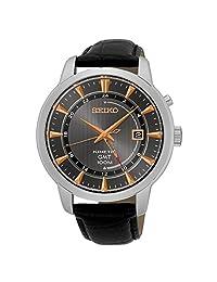 Seiko Men's SUN063 Kinetic Analog Display Japanese Quartz Black Watch