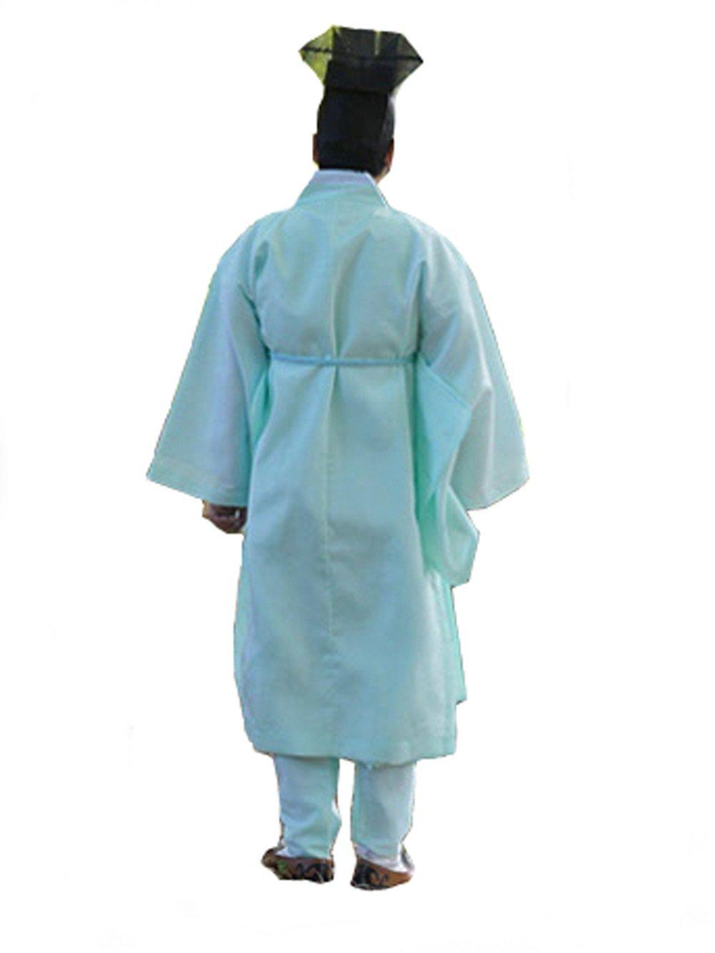 Men Water Silk Robe, Korea Traditional Men Clothing Dopo, Halloween Costumes (jade green, S) by Altair (Image #4)