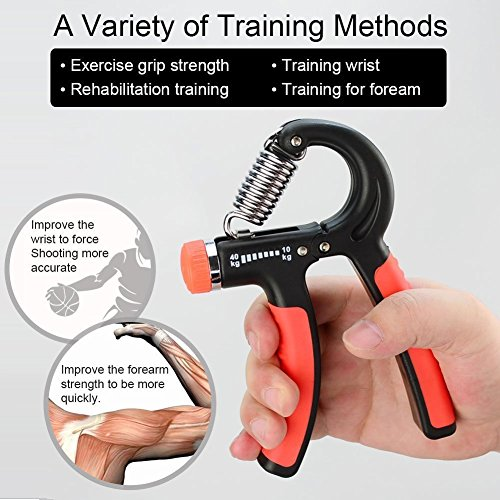 LETSCOM Hand Grip Strengthener with Adjustable Resistance Range 22 88 Lbs (10 40kg), Best Hand Exerciser for Athletes, Musicians and Hand Rehabilitation Exercising