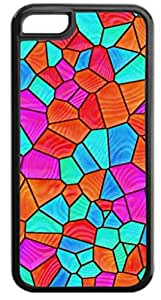 Mosaic Tiles- Case for the APPLE IPHONE 5, 5s-Hard Black Plastic Outer Case with Tough Black Rubber Lining hjbrhga1544