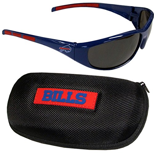 NFL Buffalo Bills Wrap Sunglasses & Zippered Case, - Sunglasses Bills