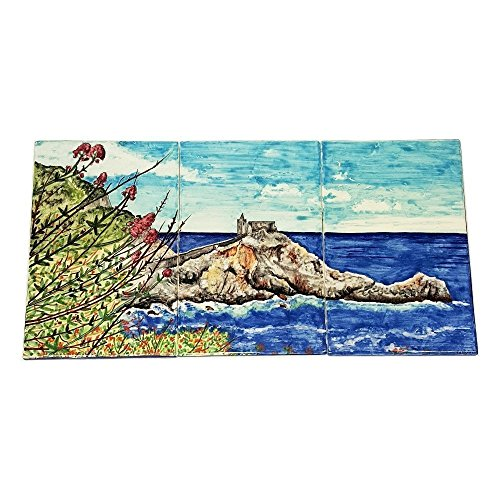 CERAMICHE D'ARTE PARRINI - Italian Ceramic Pottery Art Panel Big Tile For House Decorated Landscape Custom Personalized Hand Painted Made in ITALY - Painted Personalized Pottery