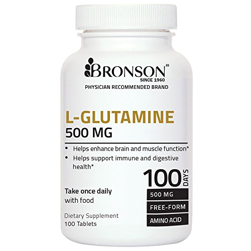 Bronson Labs: L Glutamine 500 mg, Highest Quality, Made in USA