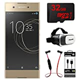 Sony XA1 16GB 5 Smartphone, Unlocked - Gold (1307-4958) w/ 32GB Bundle Includes, 32GB MicroSD Memory Card, Fusion Bluetooth Headphones, VR Vue II Virtual Reality Viewer & USB Micro-B to USB-A Cable