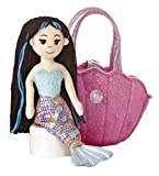 "Pink Shell Sea Sparkles Purse with 10"" Mermaid"