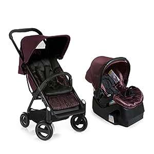iCoo Acrobat Plus iGuard35 Infant Car Seat, Fishbone Bordeaux