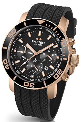 TW Steel TW703 Grandeur Diver 48mm Rose Gold Men's Watch 48mm Grandeur Watch