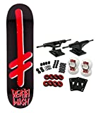 Deathwish Skateboard Complete Gang Logo Black/RED 8.25'