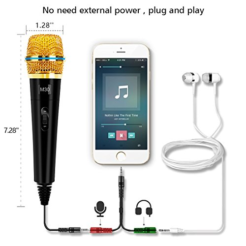 Professional Condenser Microphone Recording with Stand for PC Computer iphone Phone Android Ipad Podcasting, Online Chatting Mini Microphones by XIAOKOA by XIAOKOA (Image #3)