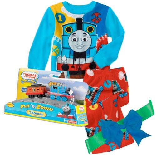 (AME Thomas the Tank Engine 2-Piece Fleece PJs with Thomas Train Gift Set (12 months))
