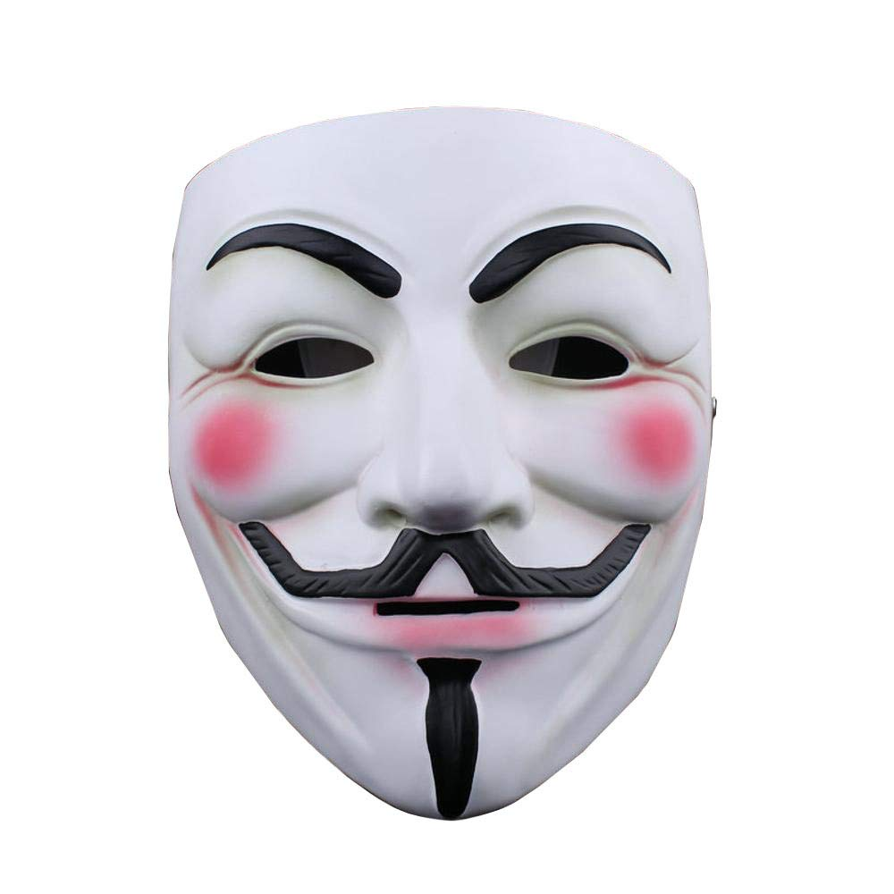 QJXSAN Máscara de Halloween Venganza Horror V Mascarilla Resina Máscara Apoyos de Rendimiento Máscaras