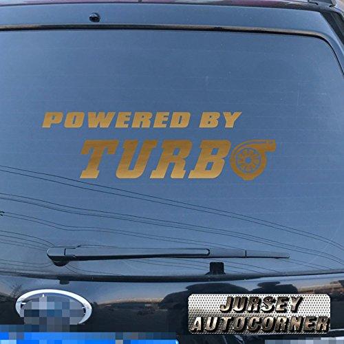 Amazon.com: 3S MOTORLINE Powered by Turbo Decal Sticker Car Vinyl pick size color die cut no bkgrd (white, 8 (20.3cm)): Automotive