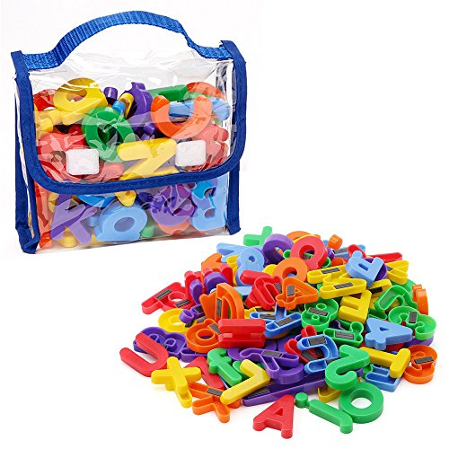 EduKid Toys Magnetic Letters and Numbers – 72 Pcs in a Tote Bag