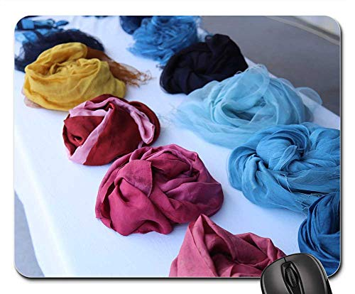 (Mouse Pad - Natural-Dyed Cloth Natural Dyeing Famous Hat-Bone)
