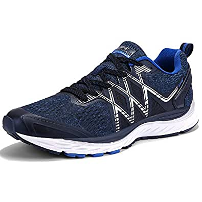 ZXCP Mens Running Shoes Trail Fashion Sneakers Tennis Sports Casual Walking Athletic Fitness Indoor and Outdoor Shoes for Men. Blue Size: 6.5