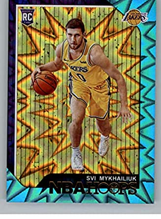 c68599da5d8 2018-19 NBA Hoops Teal Explosion  233 Svi Mykhailiuk Los Angeles Lakers  Official Trading