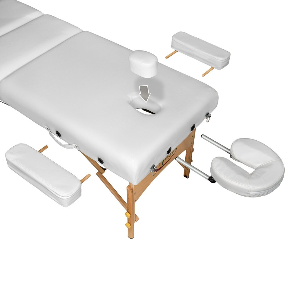 diverses couleurs au choix TecTake Table Lit de Massage Pliante Portable Beige