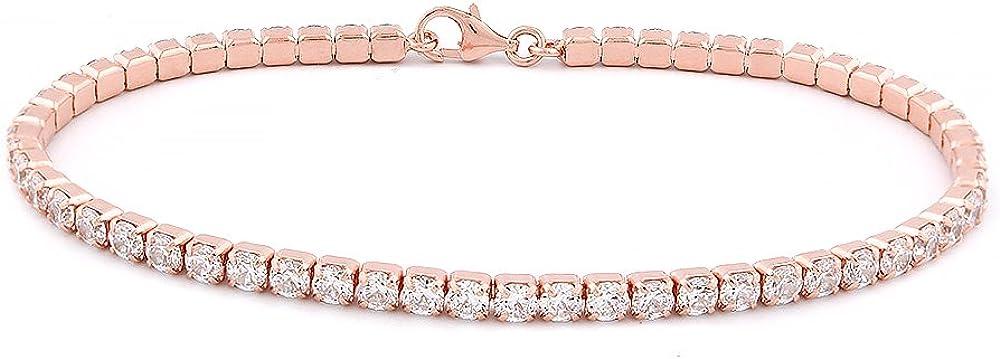 Evan Jewels EV3-3002 Womens Sterling Silver Classic Tennis Bracelet Length 7
