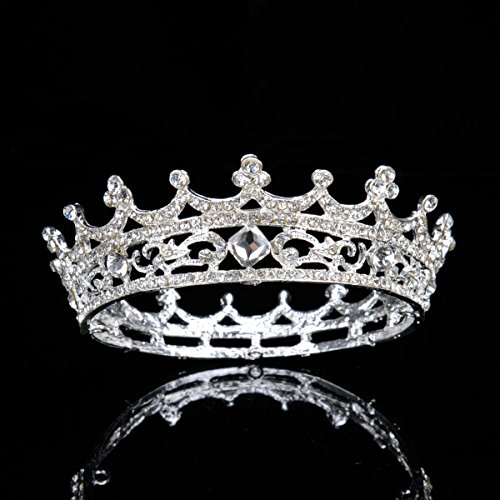 Topwedding Rhinestone Wedding Crown Bridal Children Tiara Headpiece