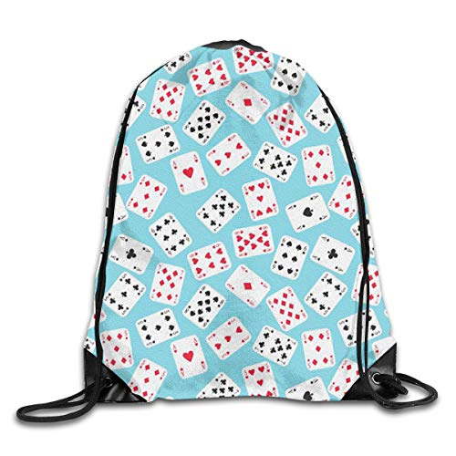 Playing Cards Drawstring Backpack Bag Sport Gym Sack For Hiking Yoga Swimming Travel Beach]()