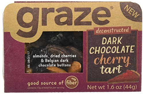 Cherry Tart, Sweet Snack Mix with Almond Nuts, Dried Cherries and Belgian Dark Chocolate Buttons, 1.6 Ounce Box, 9 Pack (1.6 Ounce Boxes)