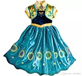 best baby Comfortable Princess Anna Dress In Frozen Disney For 7-8Y