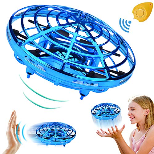 Mini Drone for Kids Adults, Flying Ball Hand Controlled Quadcopter Light Up Flying Toys, Two Speed Auto-Avoid Obstacles 360°Rotating RC Helicopter Outdoor Toys Holiday Birthday Gifts for Boys Girls ()