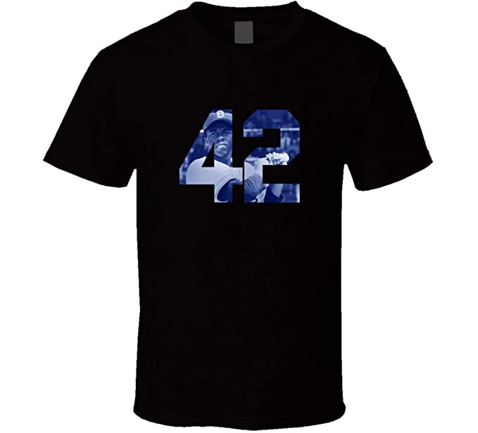 premium selection 6b9a6 10689 Amazon.com: GRXSW 42 Movie Jackie Robinson T Shirt: Clothing
