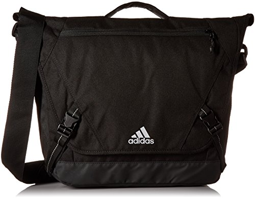adidas Sport ID Messenger Bag, Black/Tiger Style Camo Emboss, One Size (Bag Fully Lined Messenger)
