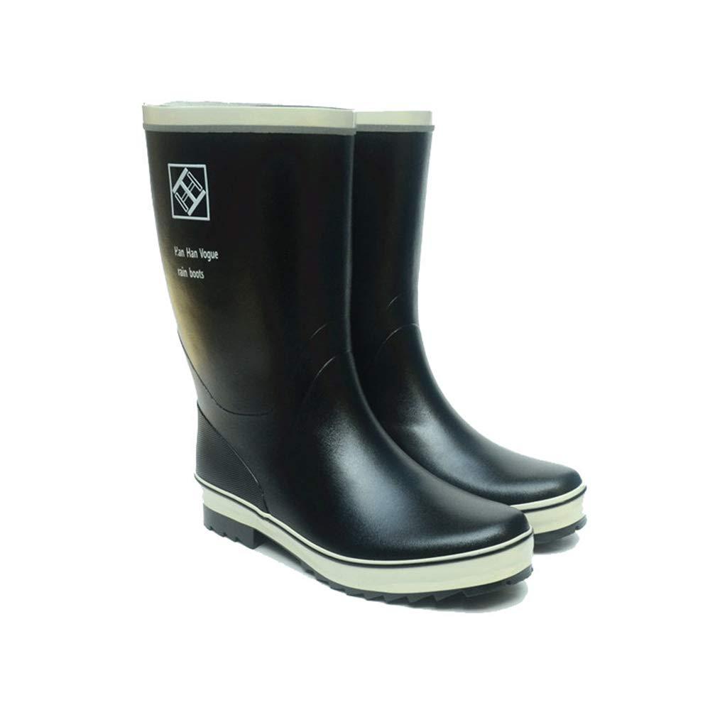 Belingeya Regenschuhe für Herren Gummistiefel für Männer Winterstiefel Angeln Schuhe Wasserdichte Gummischuhe Regen Schuhe Schneestiefel für Männer (Größe   43 1 3 EU)