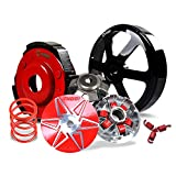 NIBBI 150CC Transmission Kit For GY6 Engine Scooter Pulley Plate Pulley Face Clutch Clutch Housing 2000RPM Torque Spring 1500RPM Clutch Spring 15g Roller Weight
