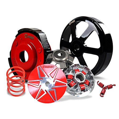 NIBBI GY6 Performance Parts Transmission Kit Cluthc Kit With Torque Spring 2000RPM Variator Pulley Set Kit With Roller 15g For GY6 Scooter 125 150 (CVT)