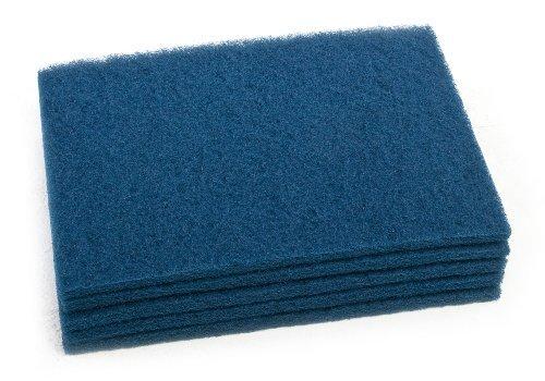 Clarke 997021 Commercial 14 Inch X 20 Inch Blue Pad (Heavy Scrub), Case of 5
