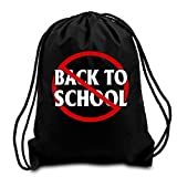 Anti Back To School First Day Of School Goodbye Summer Sport Cotton Drawstring Backpack