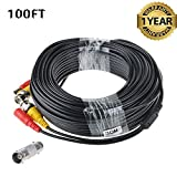 Accessory USA 100ft Black BNC Video Power Cable Cord for Night Owl C-841-A10 1080P HD BNC Systems