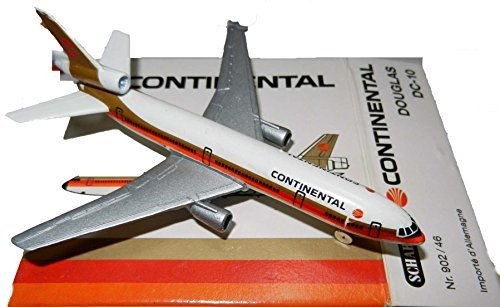 Schabak 1:600 Scale Diecast 902/46 Continental Airlines Douglas DC-10 Diecast