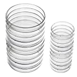 eBoot Plastic Petri Dish Sterile Dishes with Lid, 100 mm and 60 mm, 20 Pieces