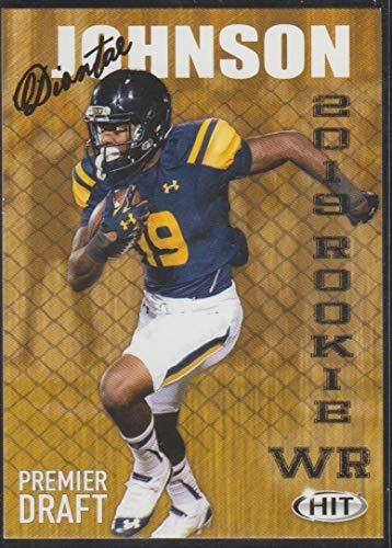 2019 Sage Hit Diontae Johnson Steelers Rookie Football Card #38