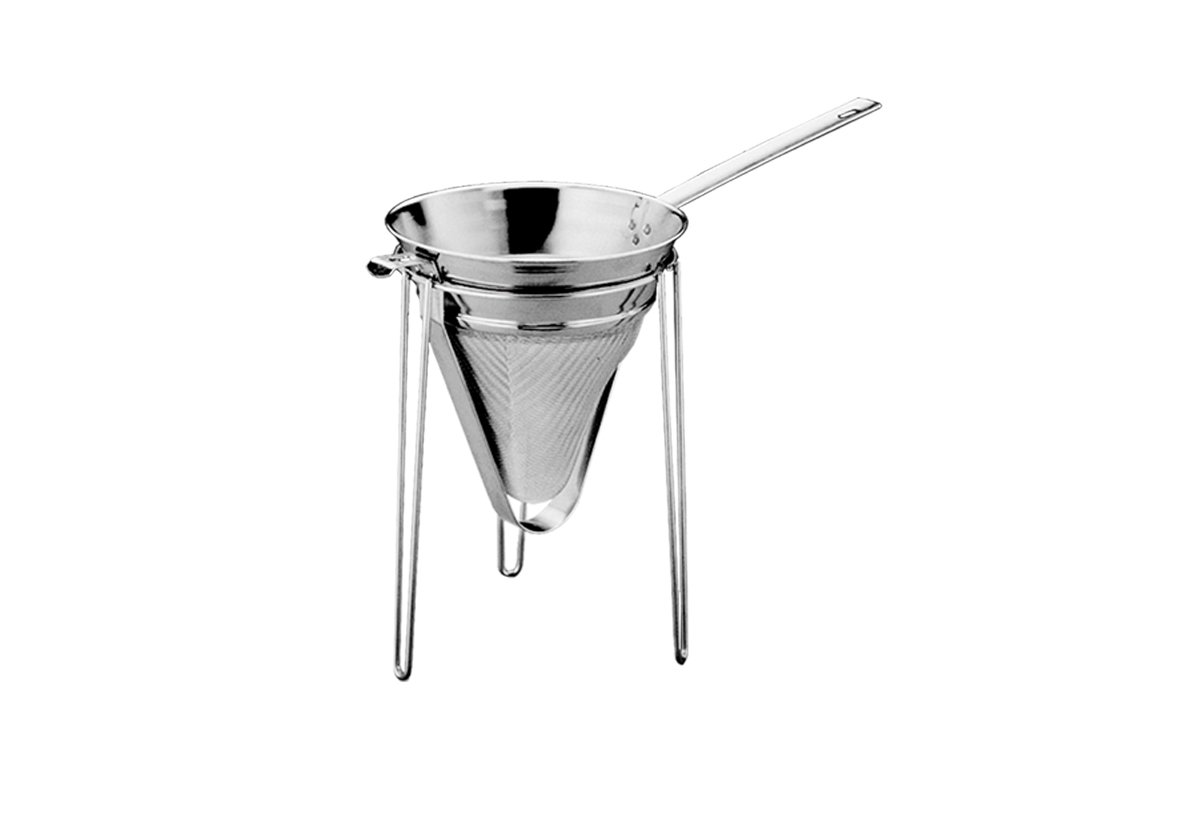Paderno World Cuisine A4982322 Stainless Steel Chinois Stand Gray